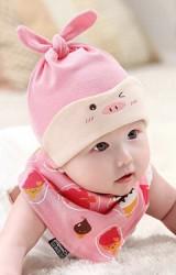 หมวกปอยผมสาวน้อยแต่งแกะชมพูขนฟูน่ารัก