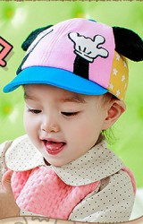 หมวกแก๊ปมิกกี้ ด้านหน้ารูปมือ แต่งหูใหญ่ Lemonkid