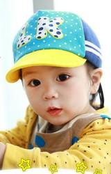 หมวกแก๊ปเด็ก แต่งอักษร LK  Lemonkid