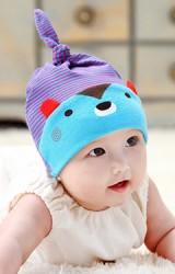 หมวกเด็กเล็กลายหมี Baby Sleep Beanie จาก GZMM
