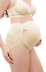 กางเกงในคนท้องแบบเอวสูง ด้านข้างจับจีบย่น ผ้าเนื้อนิ่ม