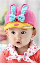 หมวกแก๊ปกระต่ายหูยาวแต่งโบว์ ดีไซน์น่ารักล่าสุดจาก GZMM