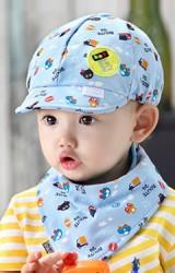 หมวกแก๊ป Baby car driver มาพร้อมผ้ากันเปื้อน