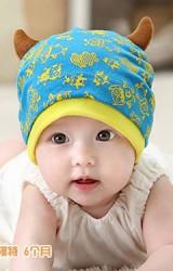 หมวกเด็กลายมอนสเตอร์แต่งเขาน่ารัก