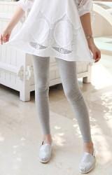 กางเกงเลคกิ้งคลุมท้องขายาว ผ้ายืดหยุ่นได้ดี แบบเรียบๆ