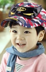 หมวกแก๊ปเด็กแต่งหน้ากากแบทแมนลายทหาร