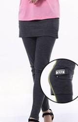 เลคกิ้งกางเกงกระโปรงคนท้องขายาว กระโปรงทรงสอบ