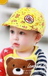 หมวกแก๊ปเนื้อผ้าฝ้ายลายรูปหมี จาก Lemonkid