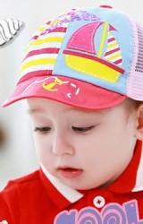หมวกแก๊ปเด็กแต่งรูปเรือใบ จาก TUTUYA ด้านหลังเป็นตาข่าย