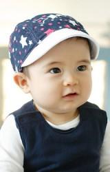 หมวกแก๊ปเด็กปีกอ่อนลายดาว