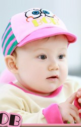 หมวกแก๊ปเด็กการ์ตูนตาโต ปักอักษร BOB จาก TUTUYA