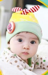 หมวกเด็กเล็กลายกระต่าย หมวกมีหูยาวๆ ลายขวาง TUTUYA