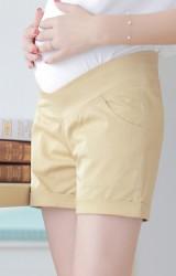 กางกางขาสั้นคนท้องแบบเอวต่ำ ผ้ายืดหยุ่นได้ดี