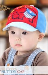 หมวกแก๊ปเด็กปักรูปช้าง แต่งกระเป๋าหลอกเล็กๆ จาก GZMM