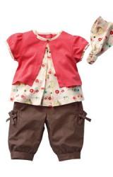 ชุดเซ็ตเสื้อ กางเกง และสายคาดผม เด็กหญิง ดีไซน์น่ารักๆ