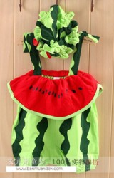 ชุดแตงโมสำหรับสาวน้อย  มาพร้อมหมวก