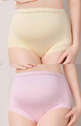 กางเกงชั้นในสำหรับสตรีมีครรภ์ ขอบผ้าลูกไม้