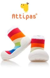 Attipas รองเท้าเด็กหัดเดิน - Rainbow White