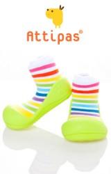 Attipas รองเท้าเด็กหัดเดิน - Rainbow green