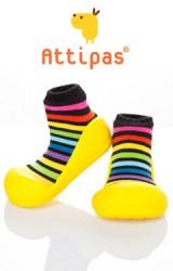 Attipas รองเท้าเด็กหัดเดิน - Rainbow yellow