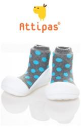 Attipas รองเท้าเด็กหัดเดิน - Polka Grey