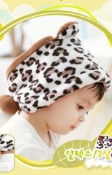 หมวกเสือดาวผ้ากำมะหยี่ ใส่ได้ทั้งเป็นหมวกสวมและเป็นผ้าสวมคอ Lemonkid