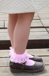 ถุงเท้าเด็กหญิงแต่งระบายลูกไม้ kocotree