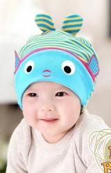 หมวกเด็กปลาน้อยน่ารัก