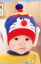 หมวกไหมพรมหุ่นยนต์แมว(โดเรม่อน) จาก MOFABABI