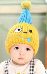 หมวกไหมพรมเด็กปลายแหลมรูปการ์ตูนแล่บลิ้น จาก GZMM