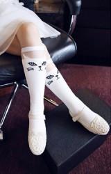 ถุงเท้าเด็กหญิงแบบยาวลายหน้าแมว