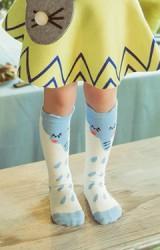 ถุงเท้าเด็กแบบยาวลายช้างพ่นน้ำ