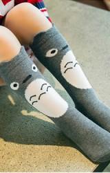 ถุงเท้าเด็กแบบยาวลายหนูชินชิล่า ไม่มีกันลื่น