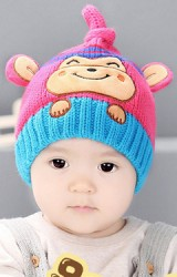 หมวกไหมพรมลิงจ๋อน่ารัก มีหางยาว
