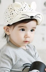 หมวกแก๊ปแมวน้อยแต่งหูน่ารัก