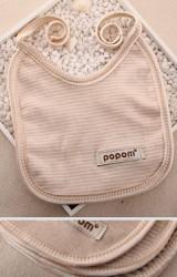 ผ้ากันเปื้อนเด็กเล็ก แบบผูกด้านหลัง ผลิตจากผ้าฝ้ายอินทรีย์