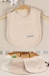 ผ้ากันเปื้อนเด็กเล็ก แบบติดกระดุม ผลิตจากผ้าฝ้ายอินทรีย์