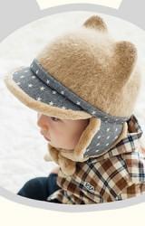 หมวกแก๊ปมีหูกันหนาว ปีกแก๊ปลายดาว จาก Lemonkid