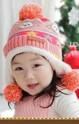 หมวกไหมพรมเด็กใส่กันหนาวลายลิง Lemonkid
