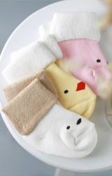 ถุงเท้าเด็กแบบหนาพับขอบ ลายการ์ตูนน่ารัก