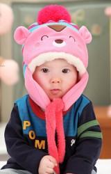 หมวกไหมพรมเด็กหน้าหมี จาก MOFABABI