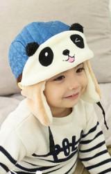 หมวกเด็กกันหนาวมาพร้อมหน้ากากหน้าหมีแพนด้า
