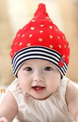 หมวกเด็กเล็กยอดแหลมลายดาว  จาก GZMM