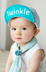 หมวกแก๊ปเด็กลายดาว ปีกหมวกปัก Twinkle
