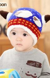หมวกไหมพรมมีเขา แต่งรูปแกะแม่ลูกน่ารัก MOFABABI