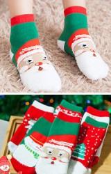 ถุงเท้าเด็กแบบหนาต้อนรับคริสมาสต์และวันปีใหม่