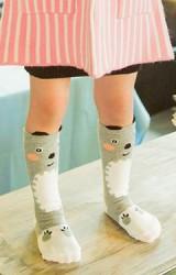 ถุงเท้าเด็กแบบยาวลายหมีกริซลี่ ไม่มีกันลื่น
