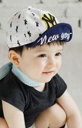 หมวกแก๊ปเด็กลายรูปสัตว์แต่ง NY ใต้หมวกสกรีน New York