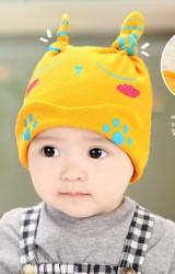 หมวกเด็กเล็กลายหมี แต่งหูยาวๆ  จาก GZMM