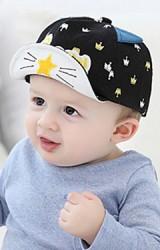 หมวกแก๊ปลายมงกุฎ แต่งหูและหน้าแมว ปักอักษร Crown จาก GZMM